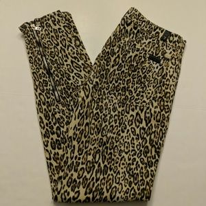 7 For All Mankind cheetah print jeans size 28